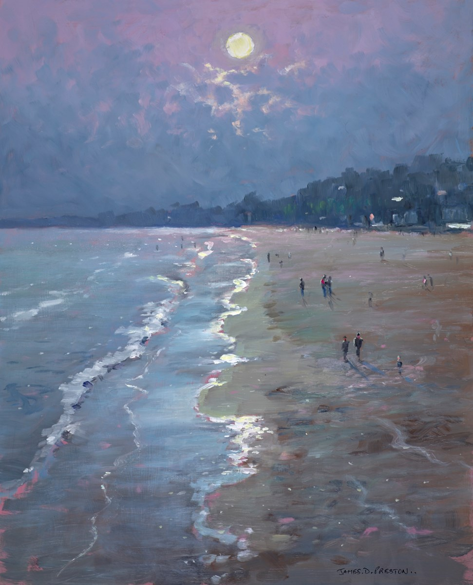 Moonlight (Bournemouth) by james preston -  sized 17x21 inches. Available from Whitewall Galleries